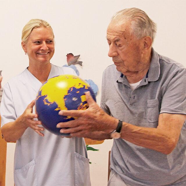 Training der Reflexe in der Pflegebetreuung
